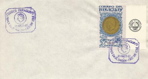 Paraguay JFK Memorial 3-30-65 FDC