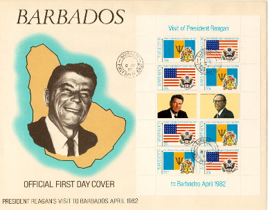 Barbados #2 FDC 55 cent