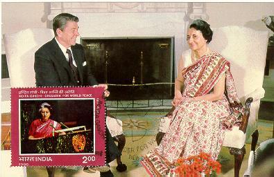 India Reagan Visit