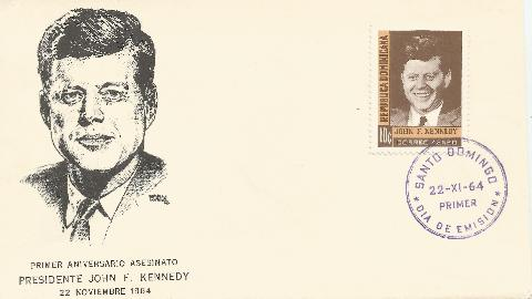 Dominican Republic JFK Memorial 11-22-64 FDC