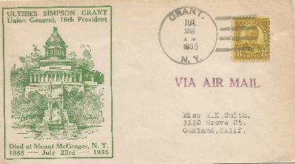 U S Grant 35-07-23 Special Event Cover #1