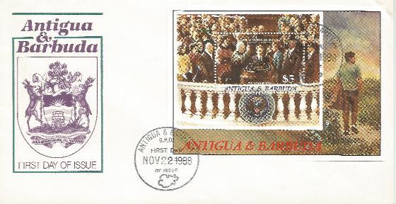 Antigua 11-22-88 FDC