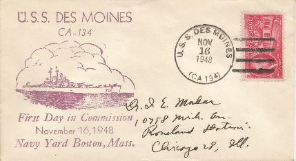 48-11-16 USS Des Moines Commission