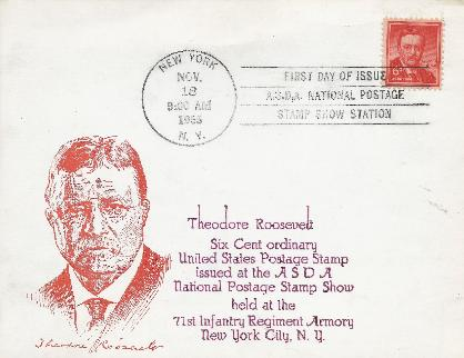 T Roosevelt 6 cent FDC #3