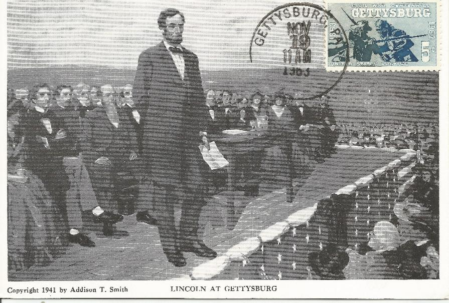 63-11-19 Gettysburg Postcard