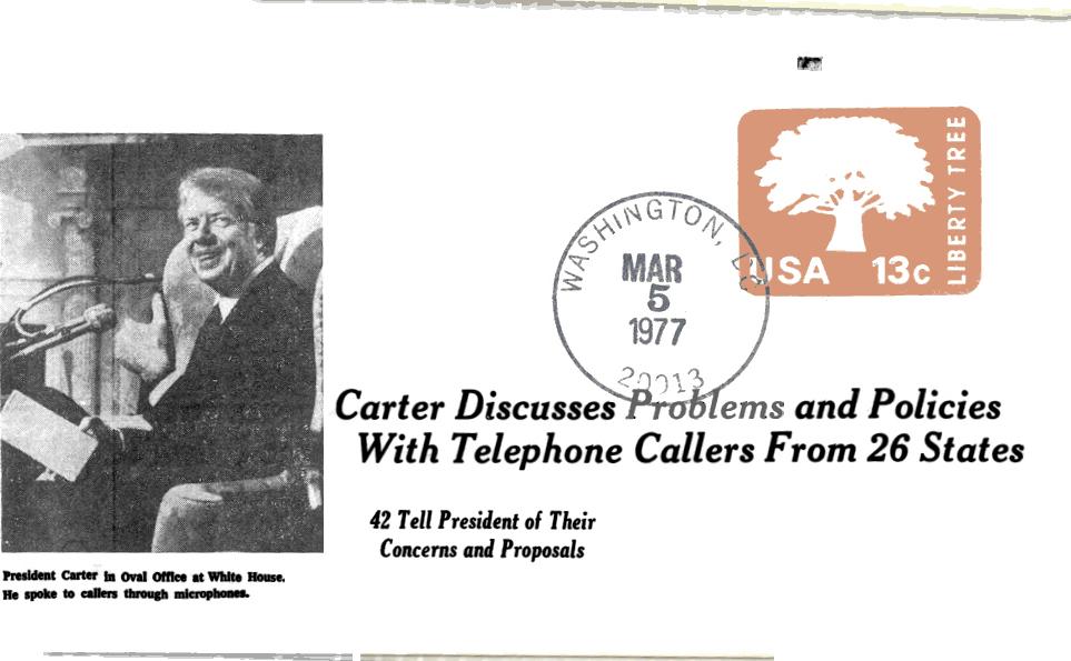 Carter Telephone callers