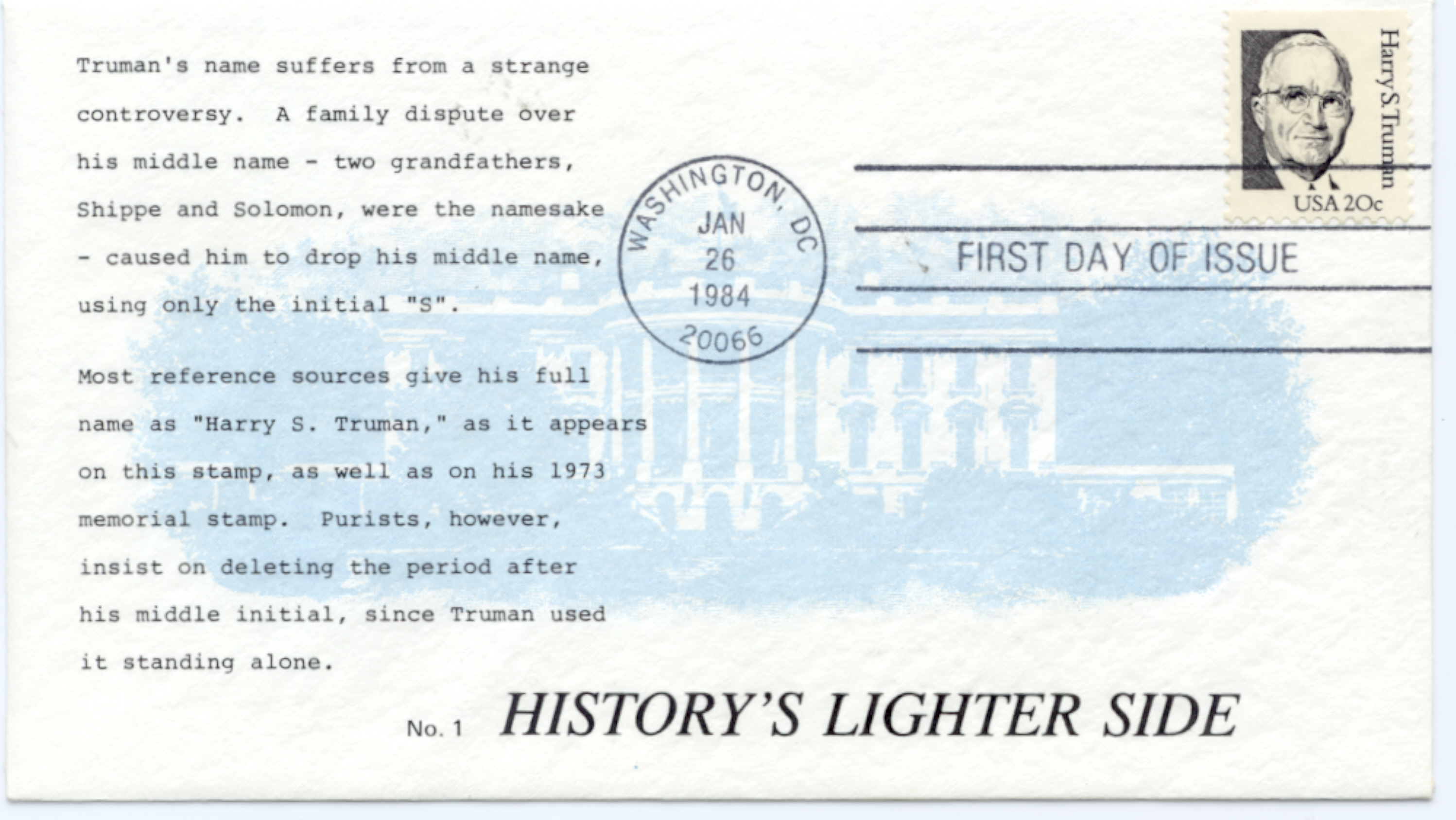 HST Definitive FDC #13