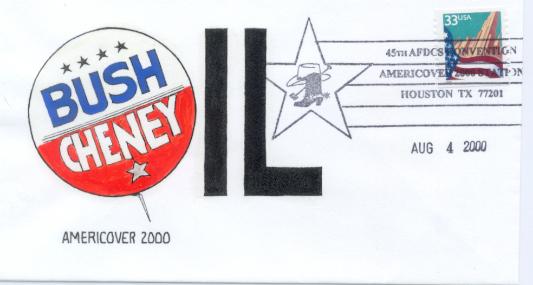 Bush/Cheney button cartoon
