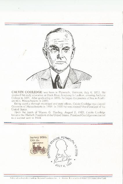 Coolidge Birthday info Card