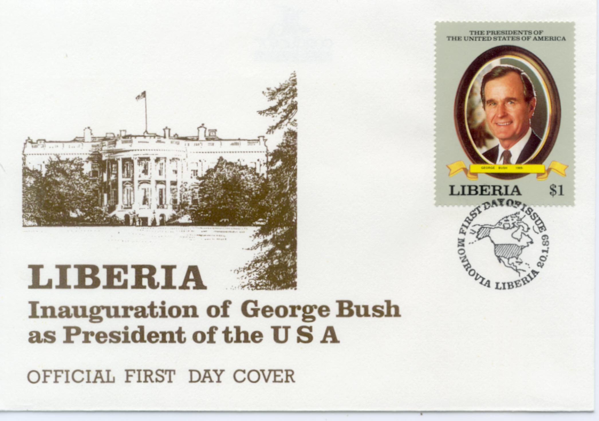 Liberia Bush FDC