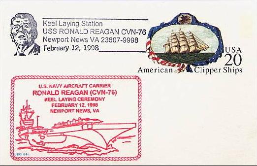 USS Reagan Keel Laying