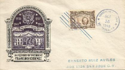 Honduras FDR Memorial FDC #1
