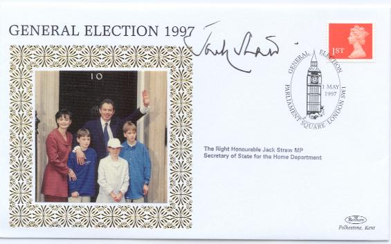 1997 General Election Jack Straw signed