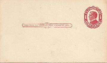WM 1 cent postcard