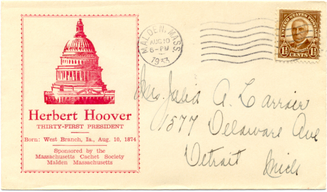 Hoover Birthday cover #1