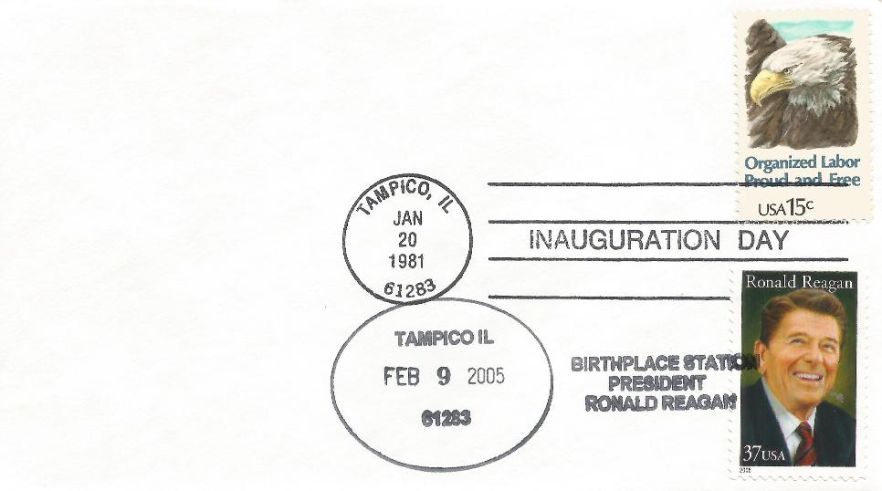 RWR memorial Tampico FDC with inaugural cancel