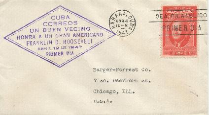 Cuba FDR Memorial FDC #4