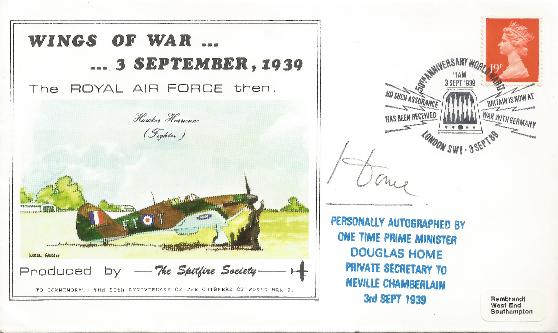 89 Wings of War signed by Douglas Home