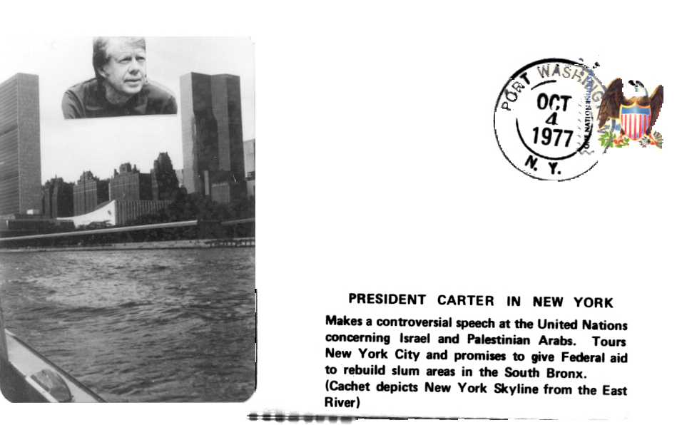 Carter visits New York