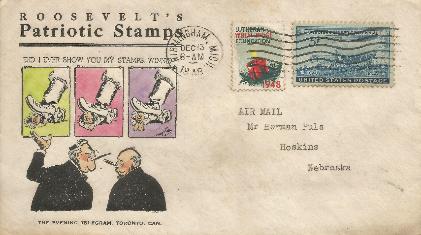 48-12-13 FDR Patriotic Stamps