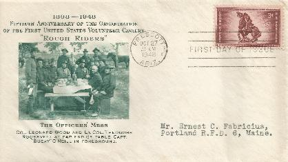Rough Riders 48-10-27 FDC