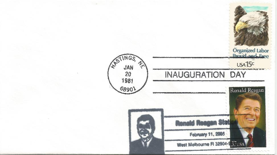 RWR memorial Melbourne FDC with inaugural cancel