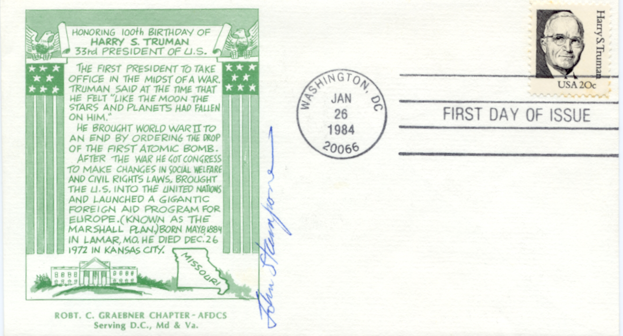 HST Definitive FDC #10