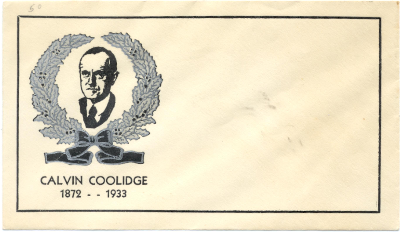 Coolidge Memorial Envelope