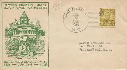 U S Grant 35-07-23 Special Event Cover #2