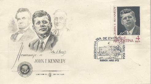 Argentina JFK Memorial 4-4-64 FDC