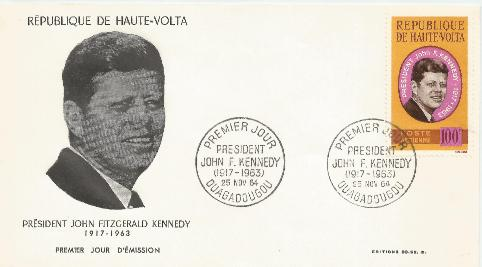 Upper Volta JFK Memorial FDC 11-25-64