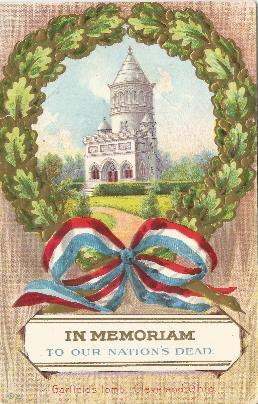 1912 Garfield memorial postcard