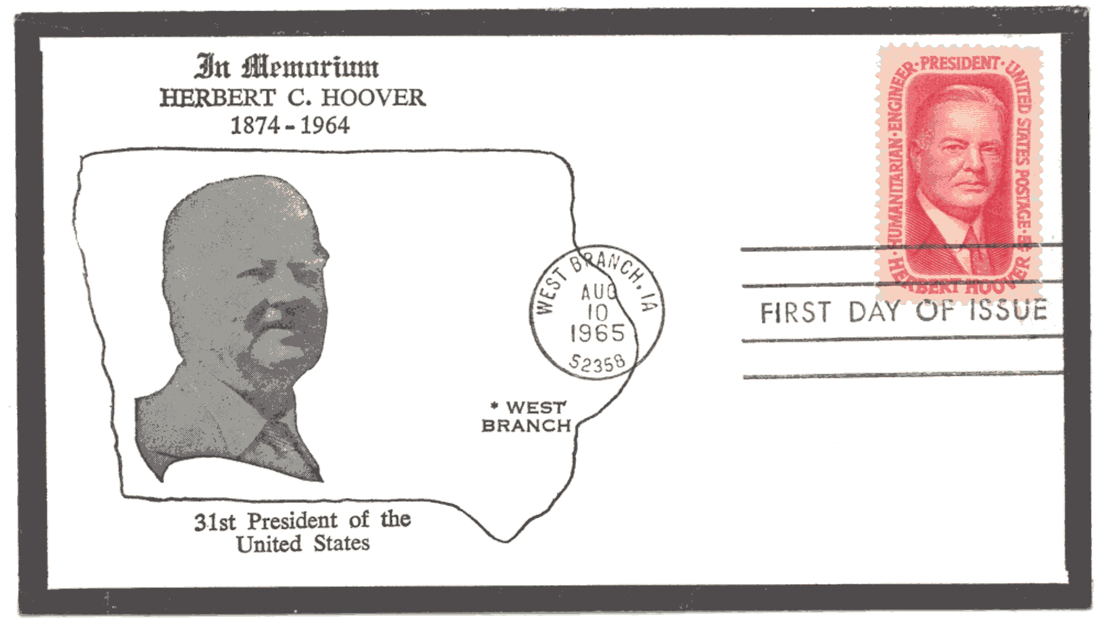 Hoover Memorial Cover #7