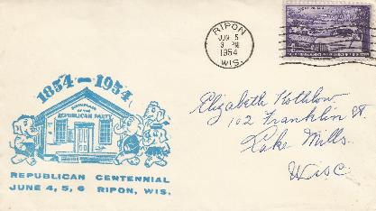 100th Anniv  Ripon, WI #1