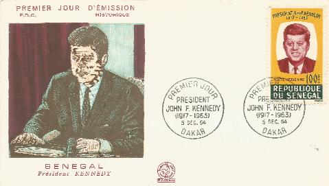 Senegal JFK Memorial 12-6-64 FDC