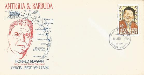 Antigua #4 FDC
