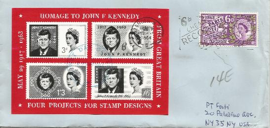 Great Britain JFK Homage Cinderella S/S 5-29-64