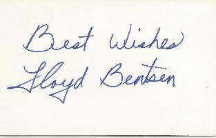 Lloyd Bentsen -VP Opponent Card