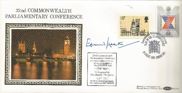 GB86 Commonwealth Conference Signed by Edward Heath