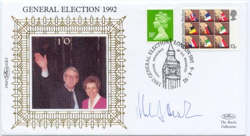 1992 Election Day signed Michael Hesiltine