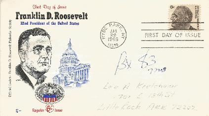 66-01-29 FDR FDC 6 cent