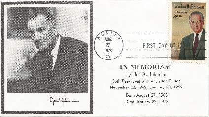 73-08-27 LBJ Memorial FDC #4