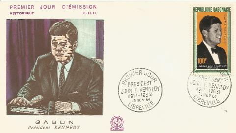Gabon JFK Memorial 11-23-64 fdc