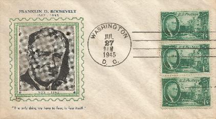 45-07-27 FDR Memorial 1 cent