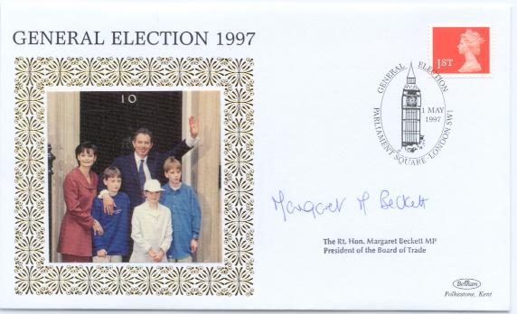 1997 Election Day cover Margaret Beckett signed