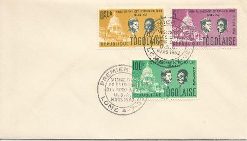 Togo Visit 7-4-62 FDC