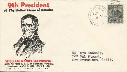 39-02-09 W H Harrison Birthday