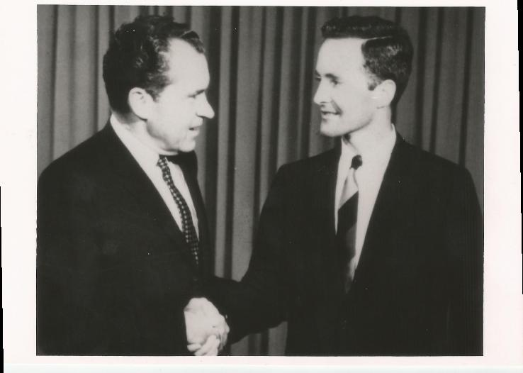 Congressman GHW Bush with Nixon