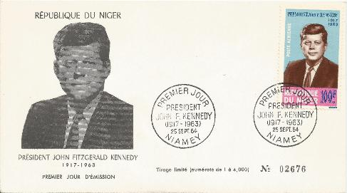 Niger JFK Memorial 9-25-64 FDC