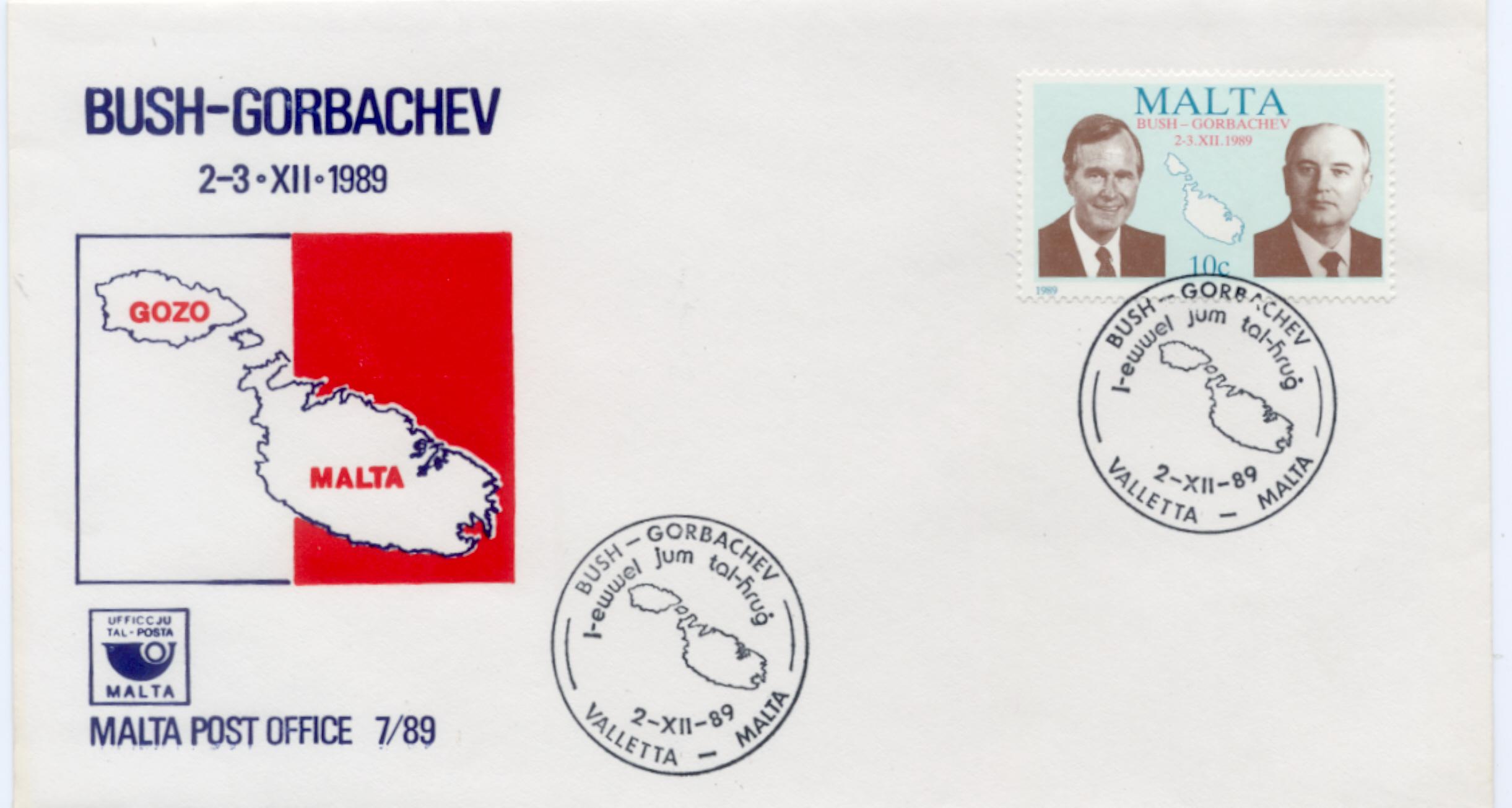 Malta Bush Gorbachev Meeting FDC #2